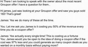 A sample marketing script